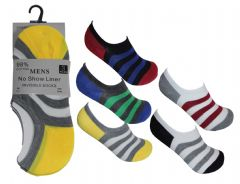 A86-MN0290 Men no show scoks cotton made assorted colour 12 pair invisible socks